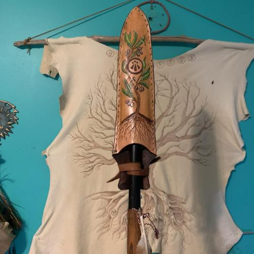 Leather Spear Sheath for Friend