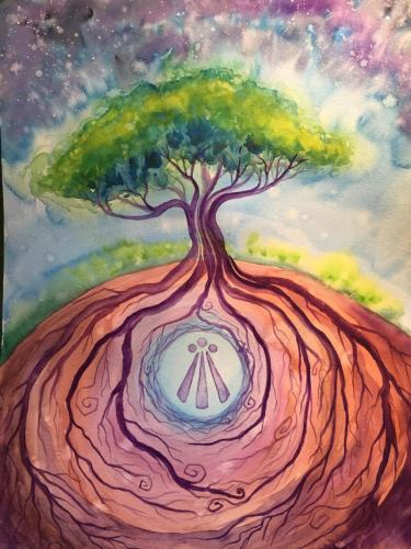Awen Rooted Painting