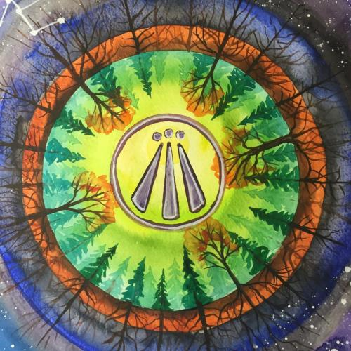 Awen Painting - Forest Circles
