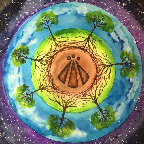 Awen painting - Inspiration Spiral